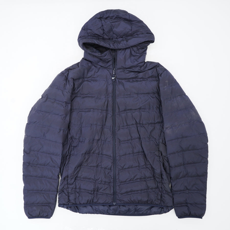 Navy Puffer Jacket With Hood Size XL