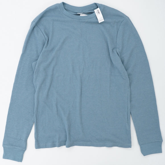 Light Blue Soft Washed Thermal Size L