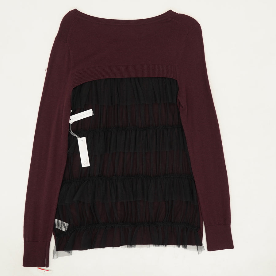 Tulle Back Sweater Size S