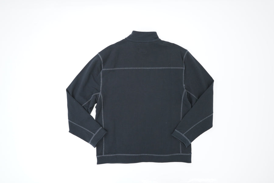 Black Quarter Zip Pullover Jacket Size M