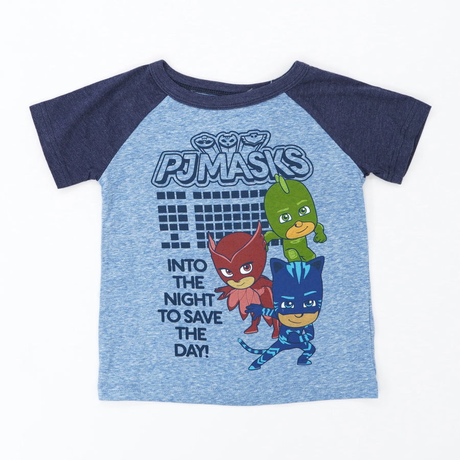 Pj Mask Cartoon Tee Size
