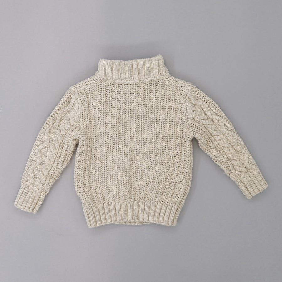 Cable Knit Funnel Neck Sweater Size 2