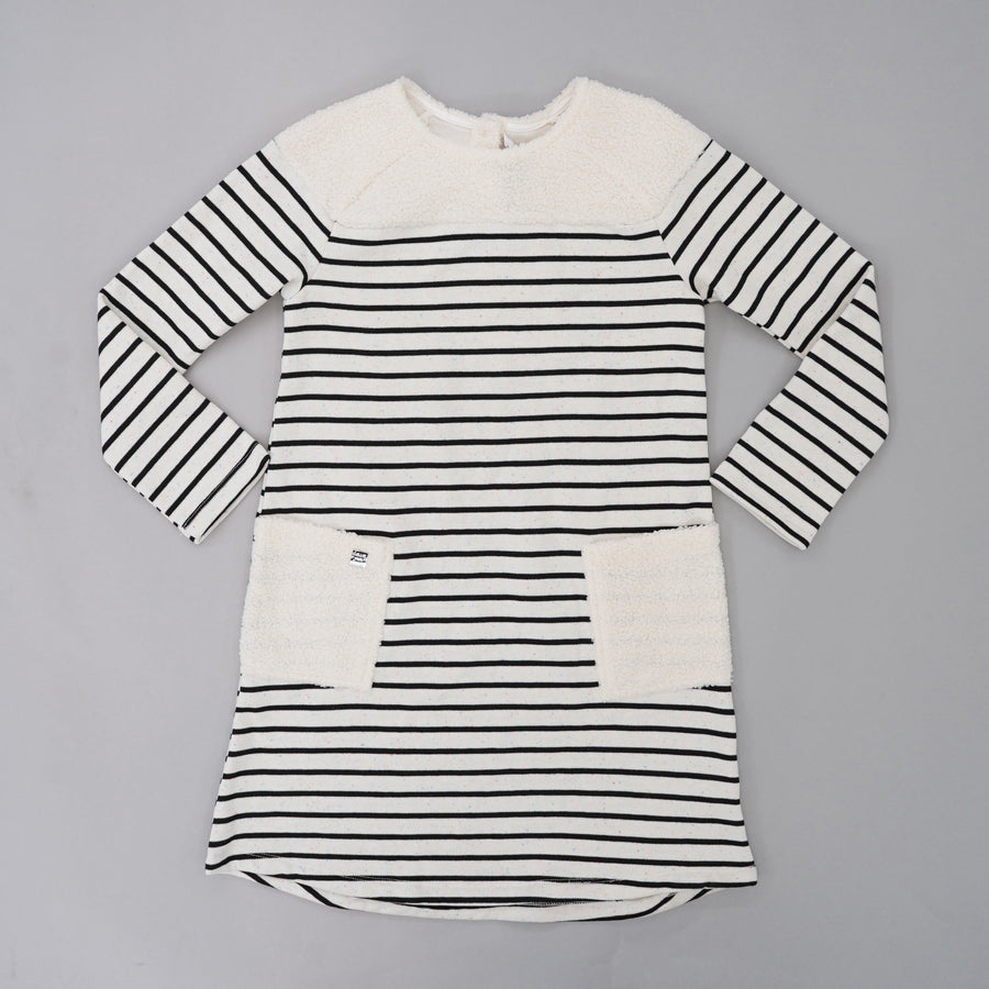 Off White Heather Striped Dress Size 10