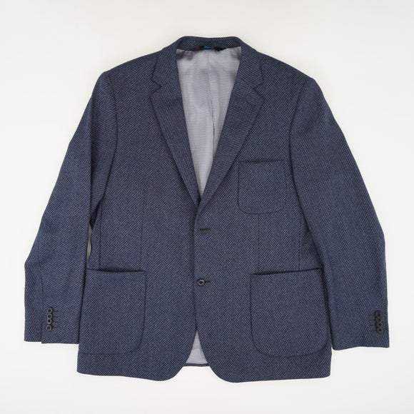Blue Checked Sports Coat Size 46R