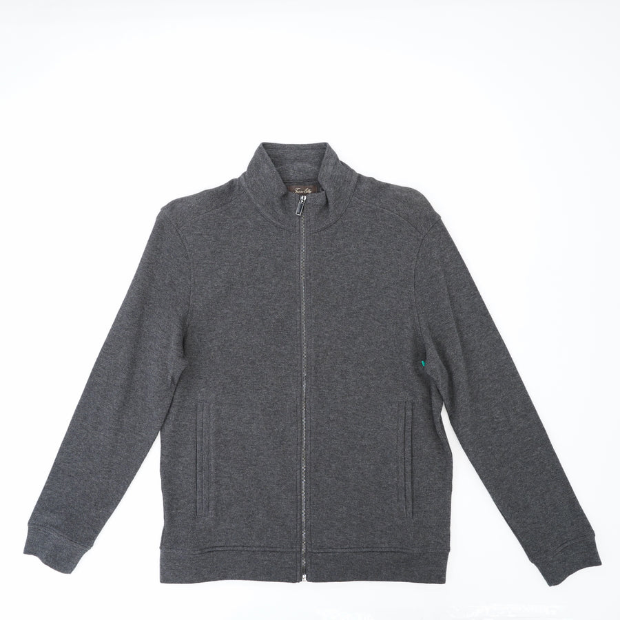 Charcoal Full Zip Knit  Jacket Size M