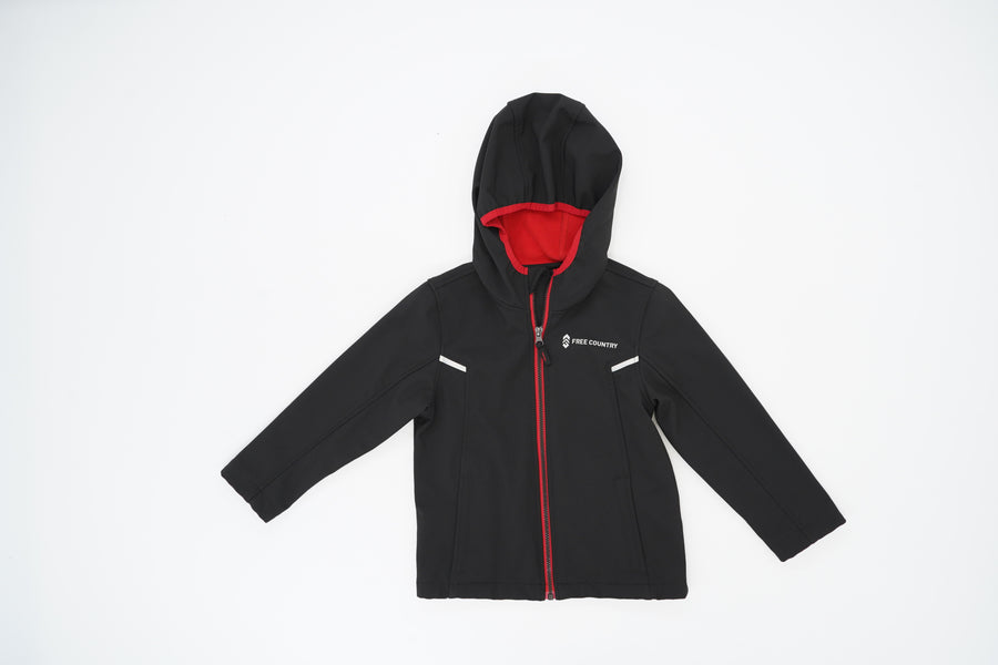 Soft Shell Zip Up Jacket With Hood Size 5/6