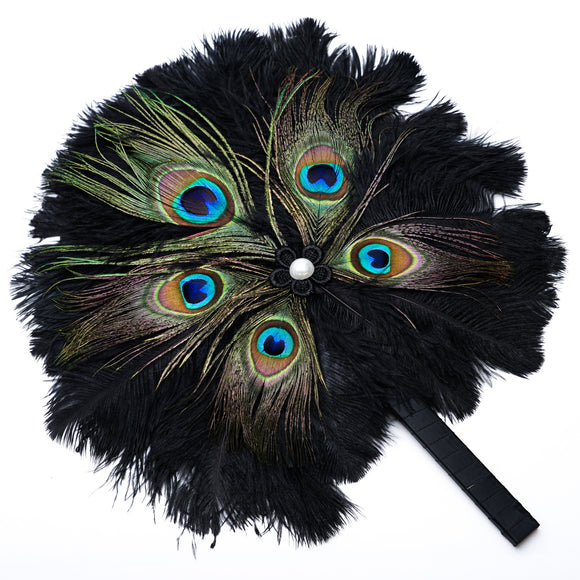 Peacock Feather Costume Fan