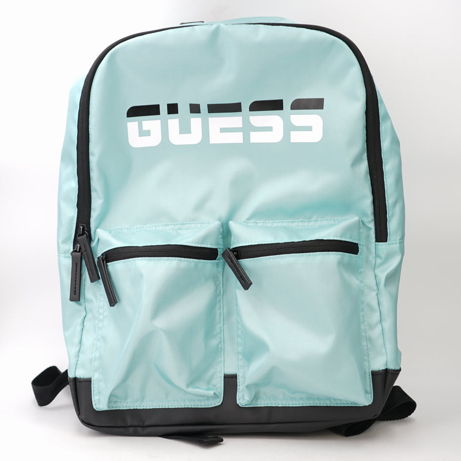 Nylon Logo 2 Pocket Backpack