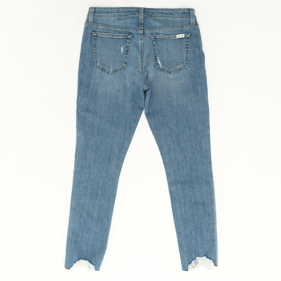 Mid Rise Distressed Ankle Jeans - Size 28W 28L