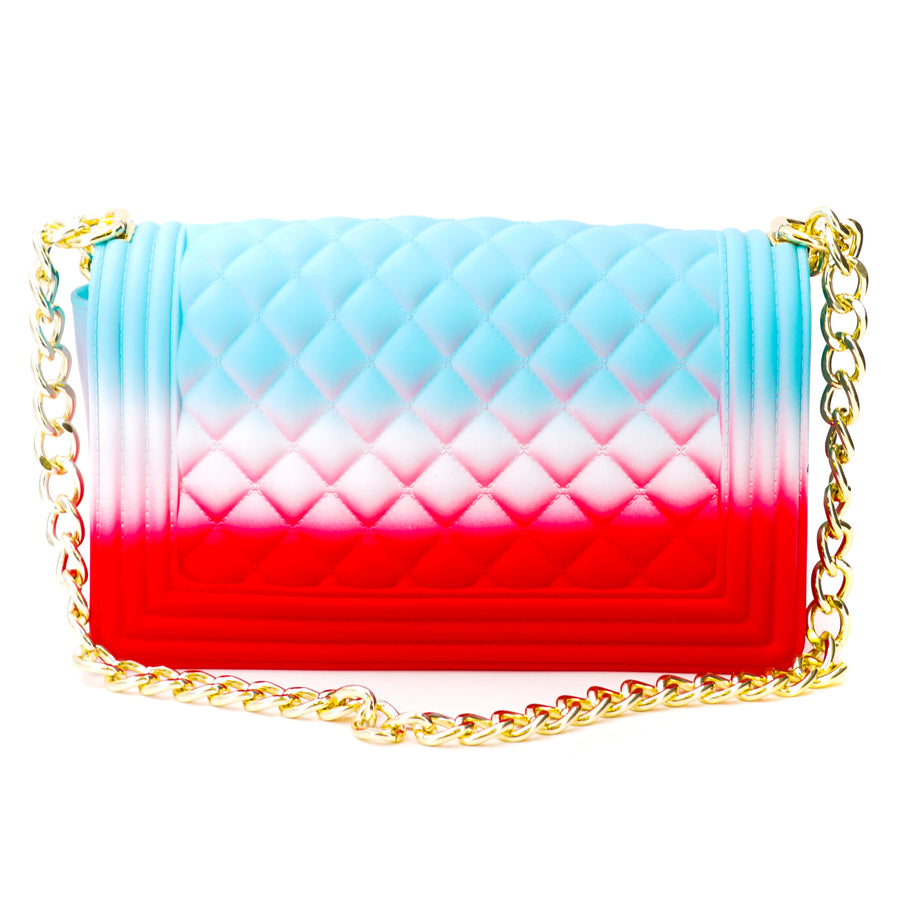 Blue & Red Jelly Handbag