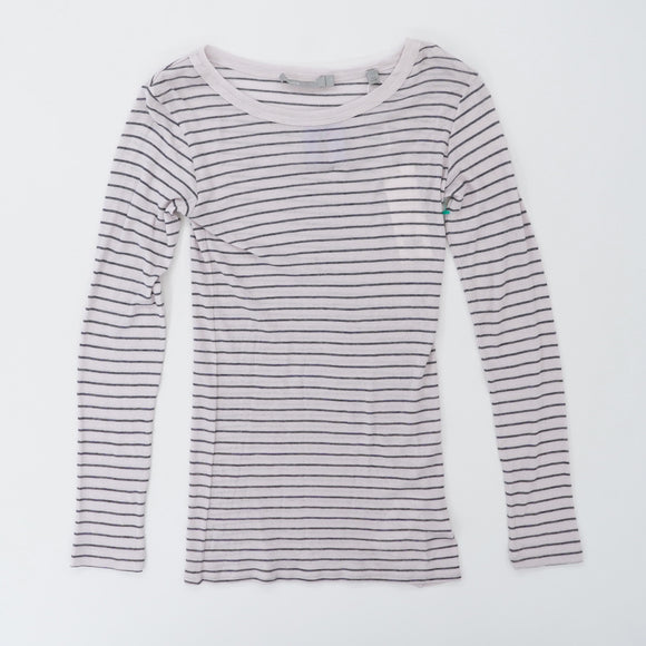Striped Long Sleeve Tee Size XS