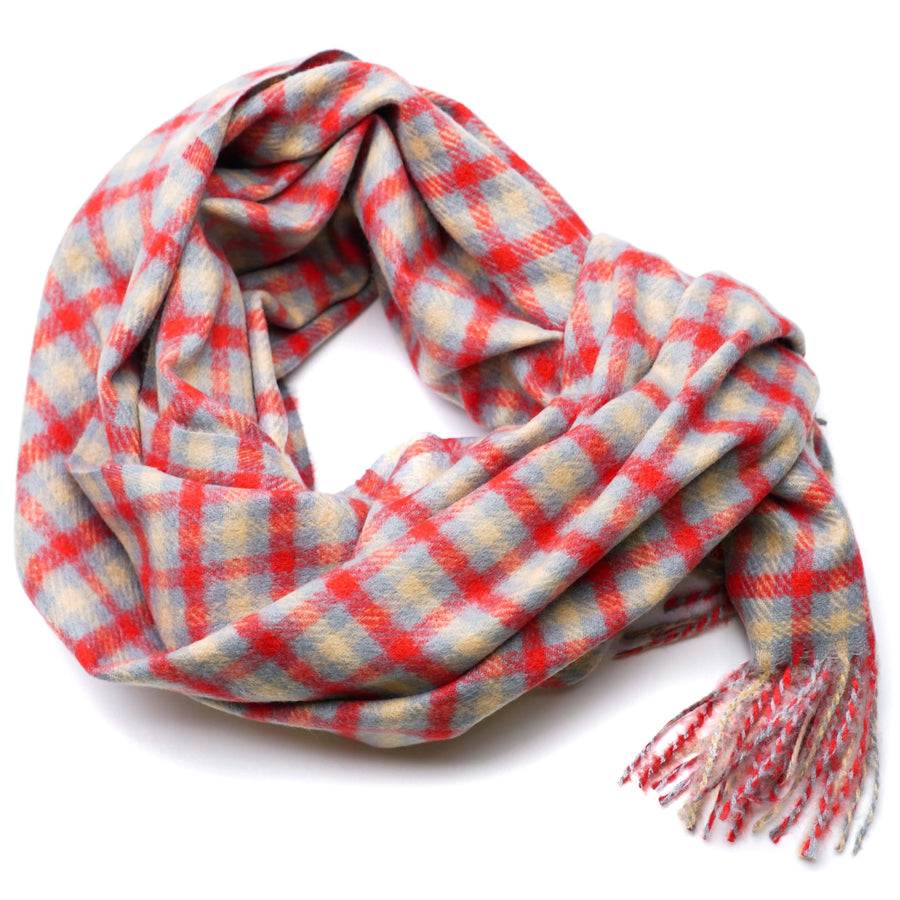 Red Plaid Winter Scarf