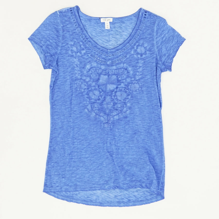 Embroidered Top in Blue - Size S