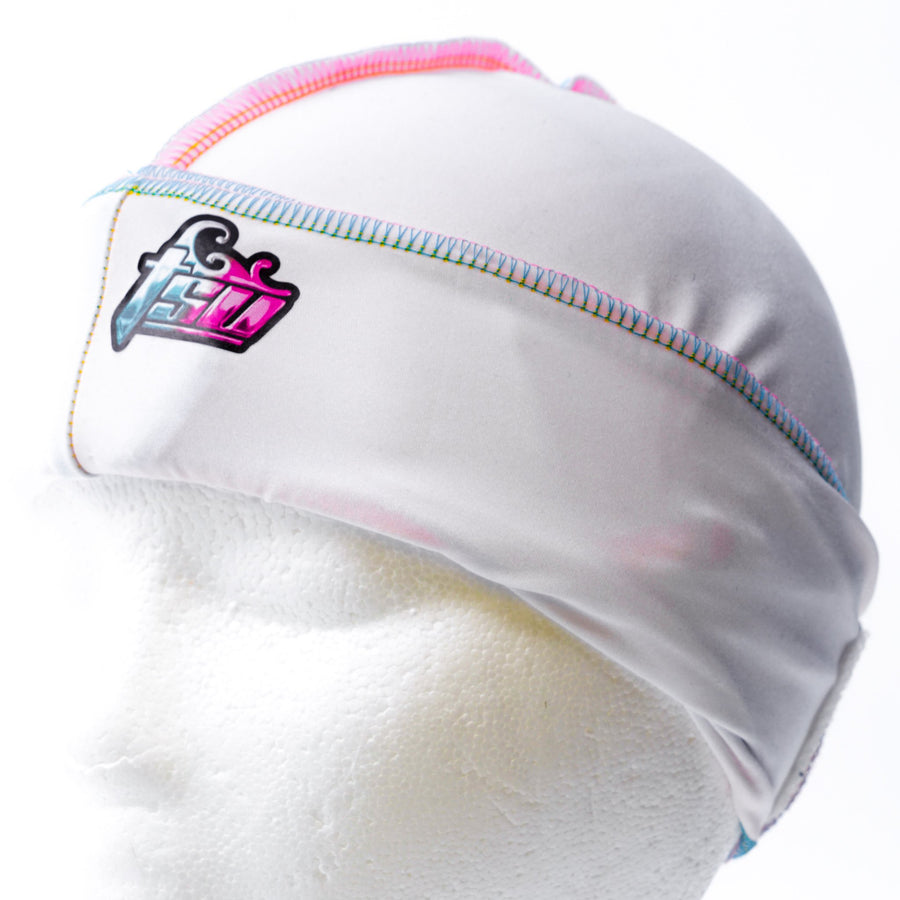 All Purpose Stringless Durag White