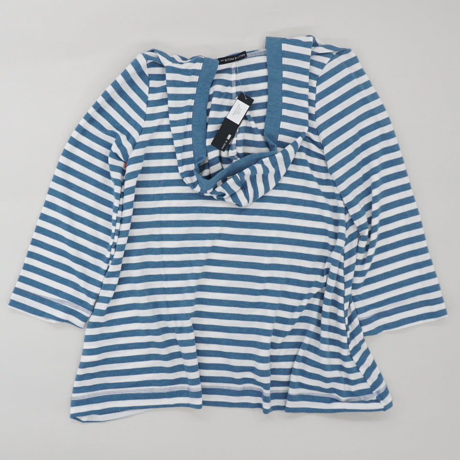 French Terry Striped Hoodie Size S