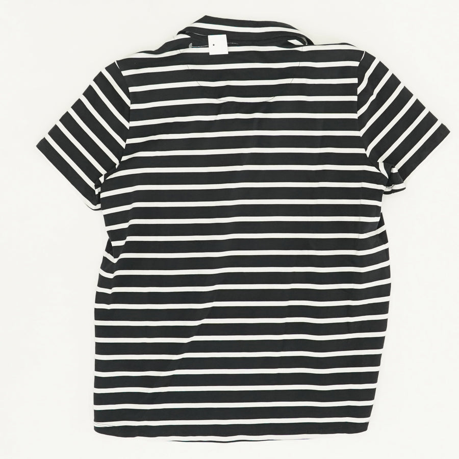 Striped Jersey Polo Size M