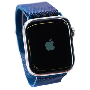 44MM Series 5 Smart Watch Stainless Steel With Blue Band