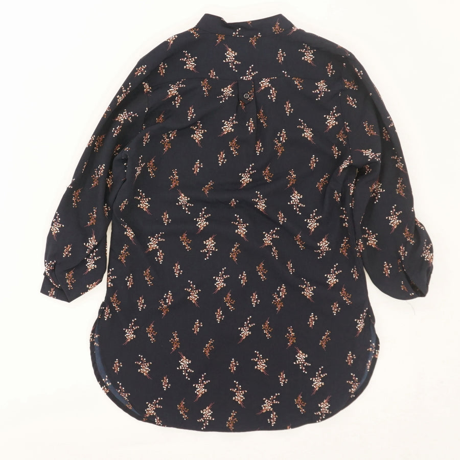 Tab Sleeve Floral Blouse - Size S
