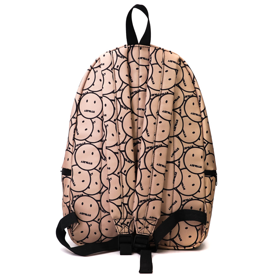 Tan Smiley Design Backpack