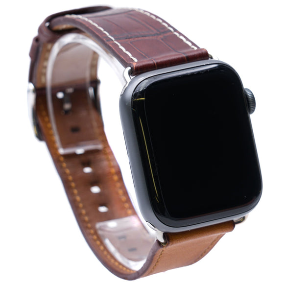 44MM Series 4 Smart Watch Space Gray With Brown Band O/S