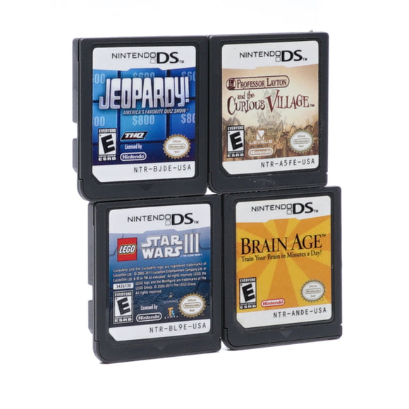 DS Game Bundle: Professor Layton and the Curious Village, Lego Star Wars Ep III, Jeopardy!, Brain Age