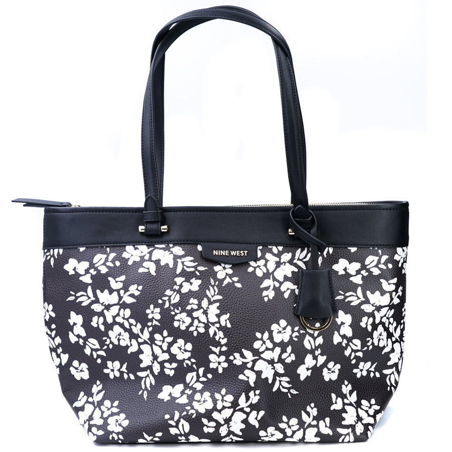 Nala Small Tote Black Floral