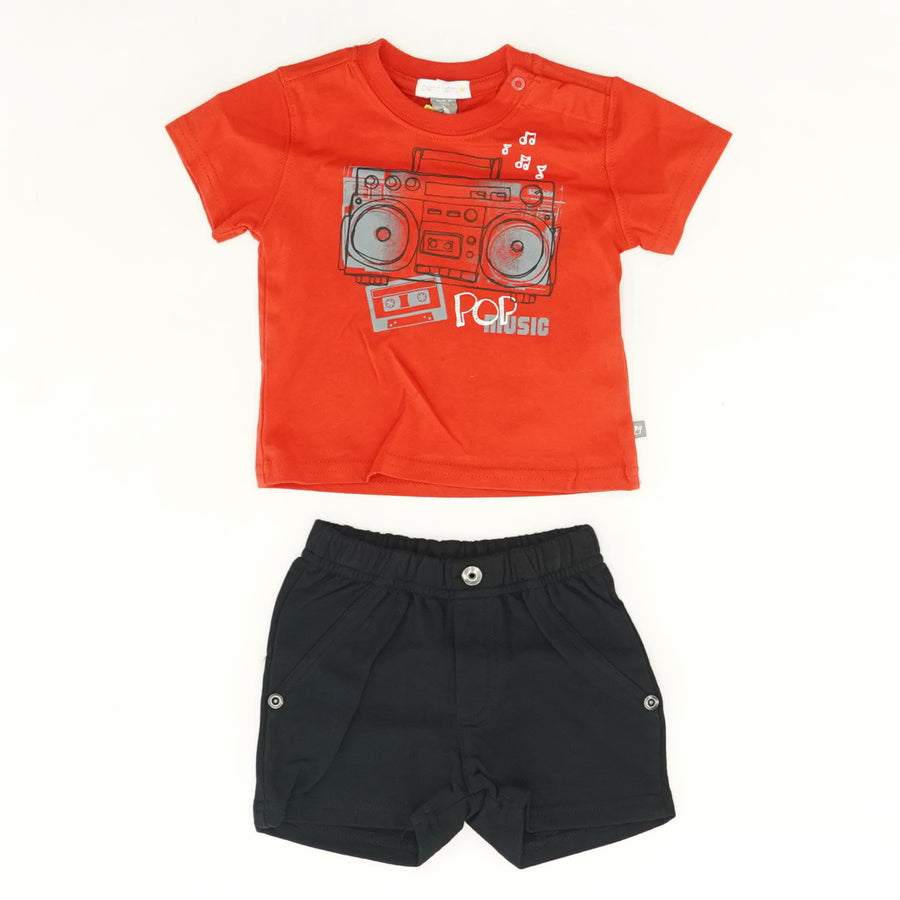Boom Box Graphic Tee and Short Set Size 3M