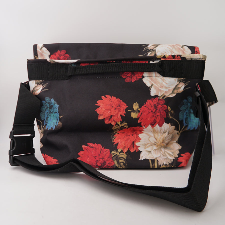 Grand Mid-Volume Vintage Floral Messenger Bag
