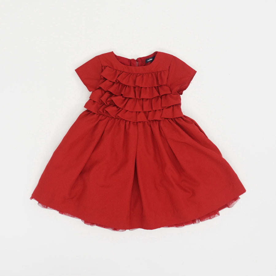 Red Ruffle Dress - Size 18/24M