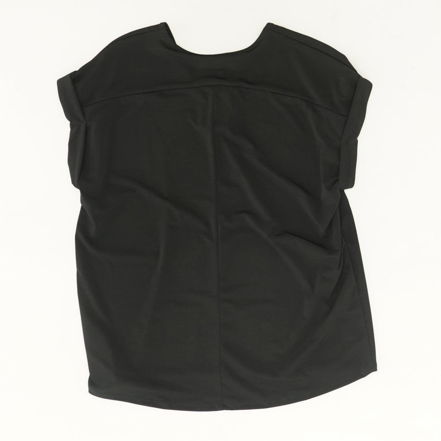 Black Blouse Tee - Size M