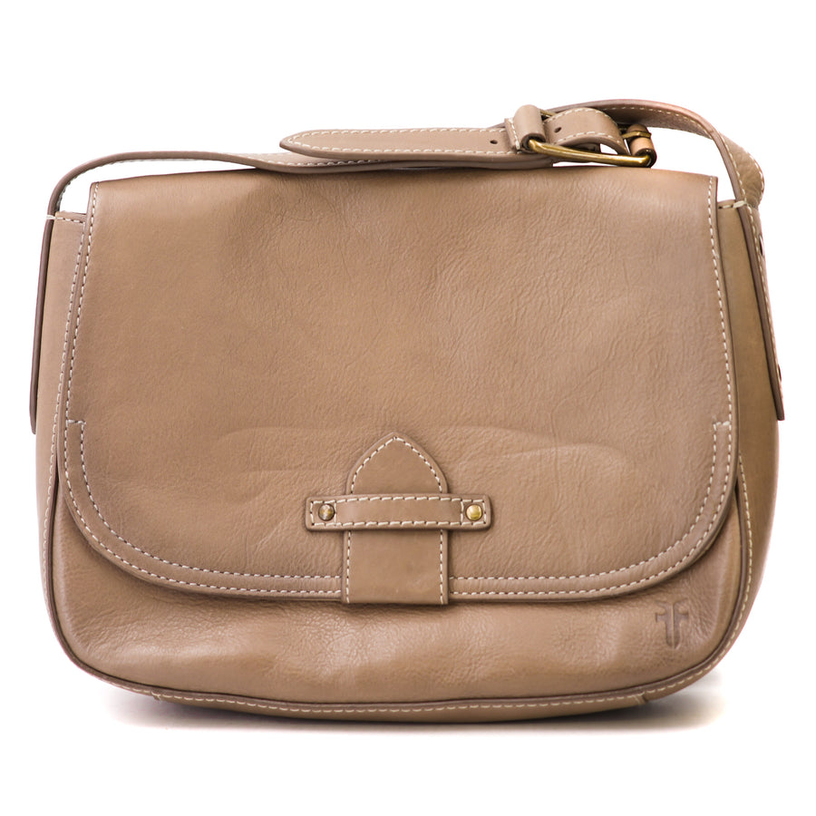 Olivia Leather Crossbody Bag In Ice