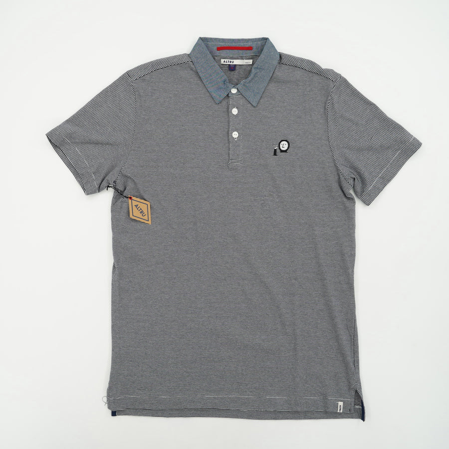 Striped Casual Short Sleeve Polo Size M