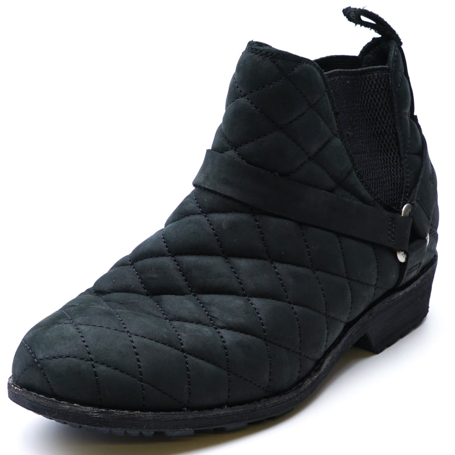 De La Vina Dos Waterproof Quilted Chelsea Boot Black Size 7.5
