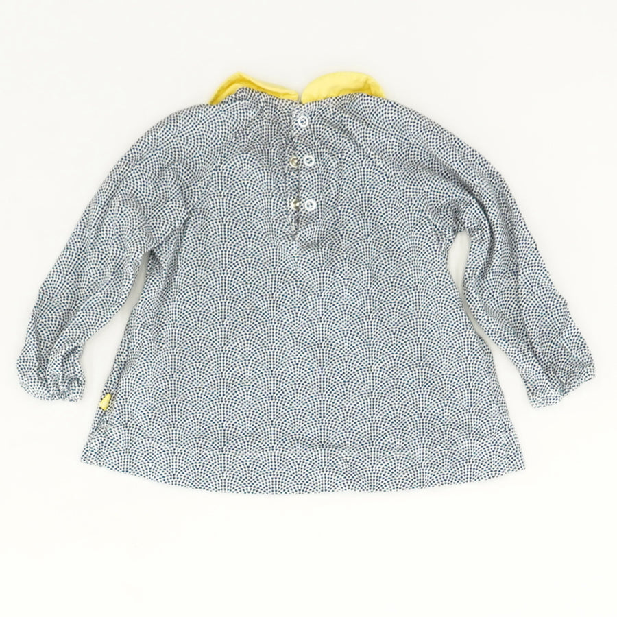 Ruffle Collar Top with Jacket Size 12M