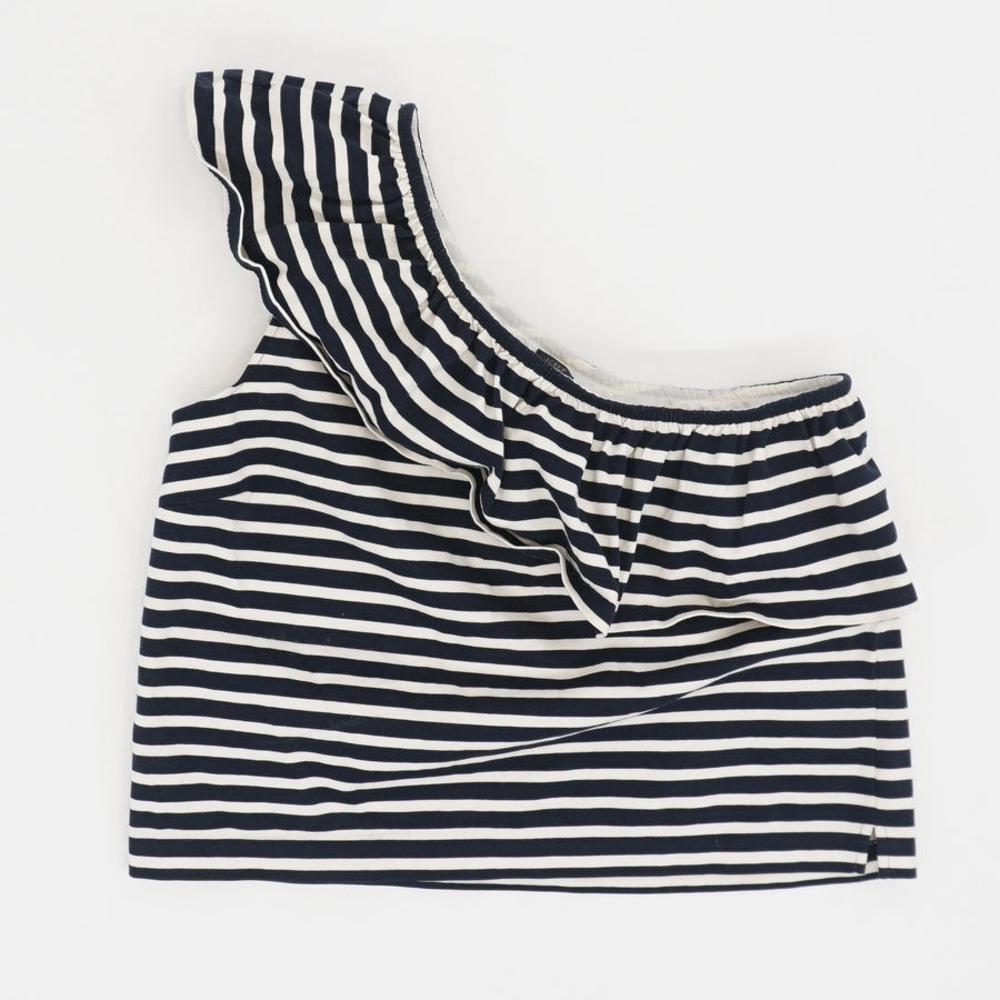 Striped One Shoulder Top - Size L