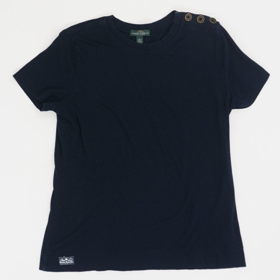 Shoulder Button Detail Tee - Size L