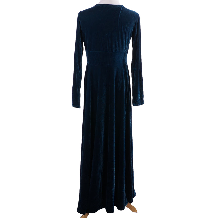Maxi Velvet Surplice Dress Size L