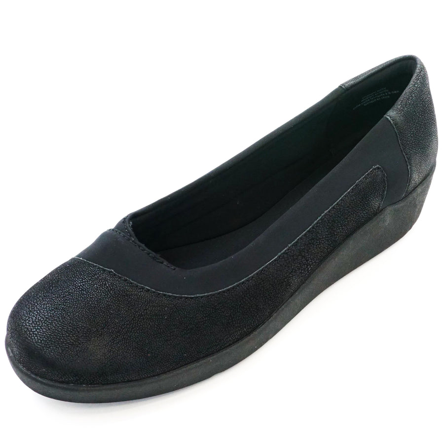 Black Kathleen Slip On Flat