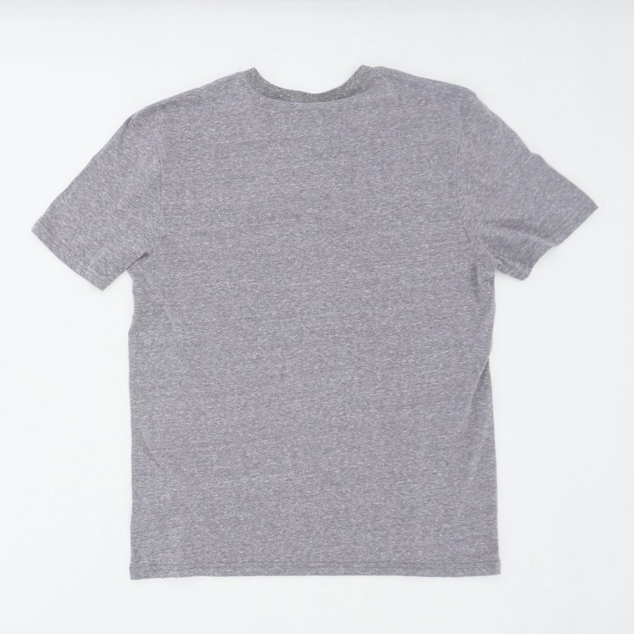Heather Gray Triblend Short Sleeve Henley - Size M, XL