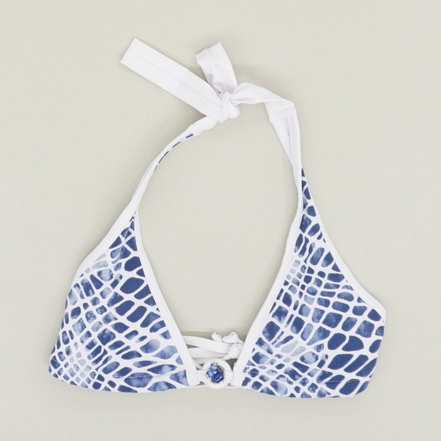 Blue Multi Printed Halter Top - Size XS