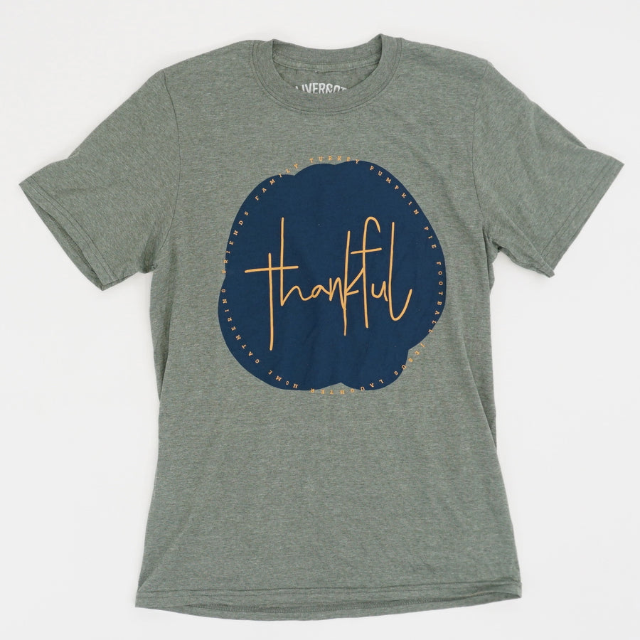 """Thankful"" Graphic Tee - Size S"