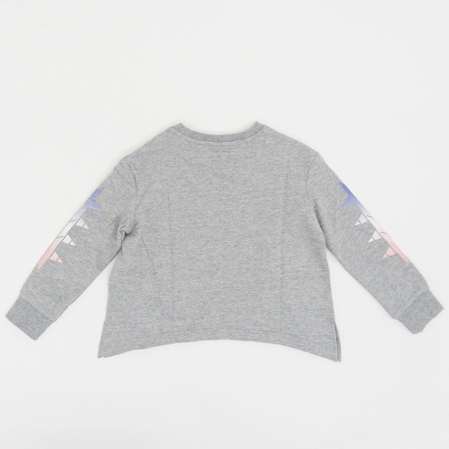 Heather Gray Star Sweater - Size 6