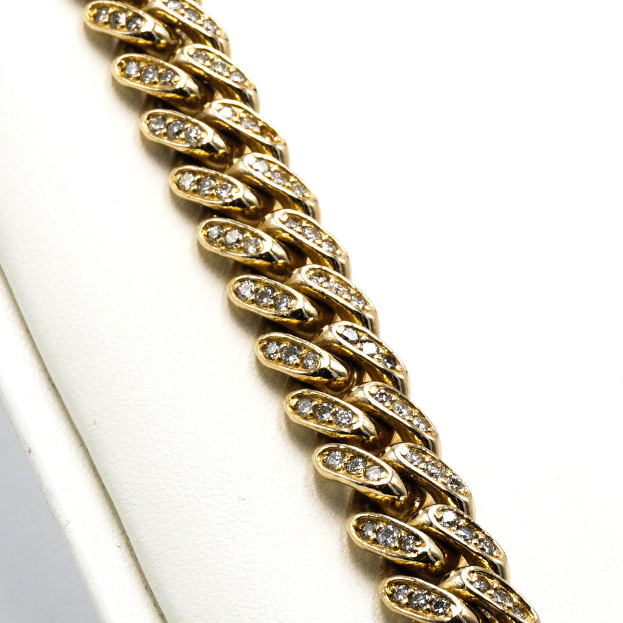 Yellow Gold Diamond Linked Bracelet