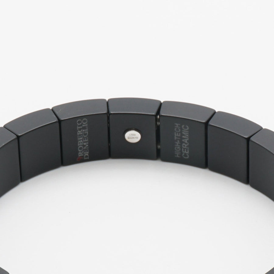 Pura Black Matte Ceramic Diamond Bracelet