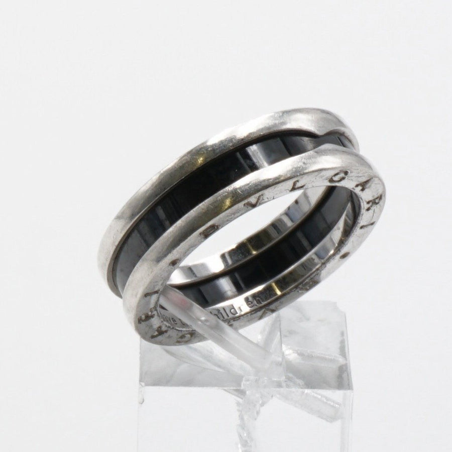 "Black Ceramic ""Save the Children"" Silver Band"