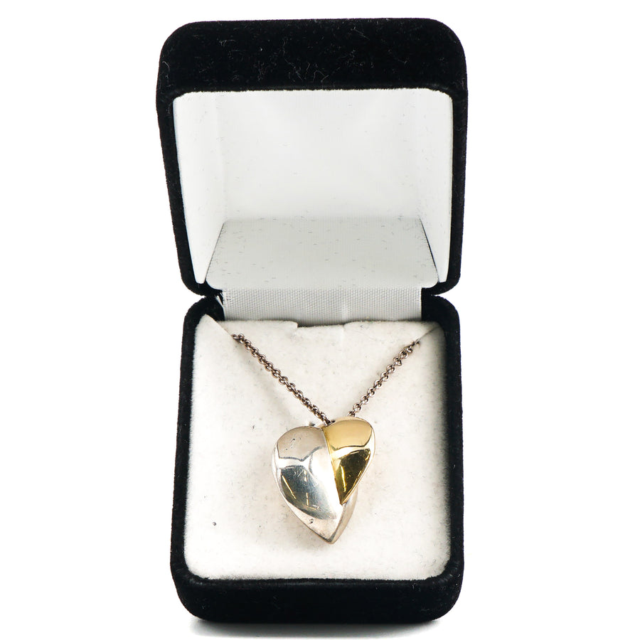 Silver & Gold Pendant Necklace