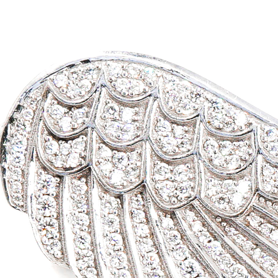 18K Diamond Angel Wing Charm