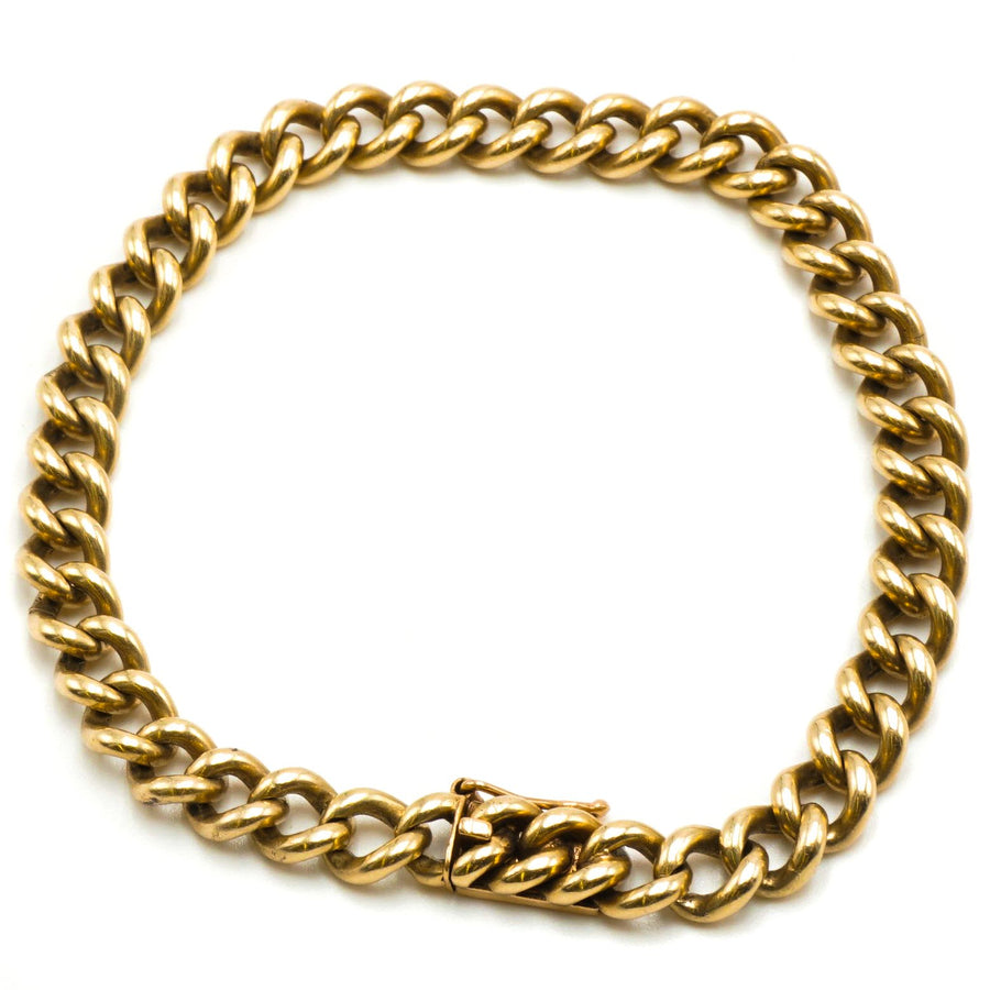 "7"" Yellow Gold Curb Chain Link"