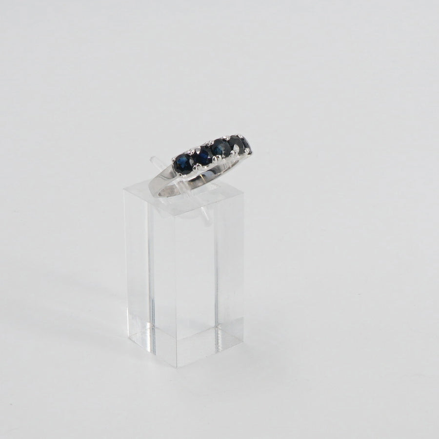 14K Five Stone Sapphire Ring Size 7.5