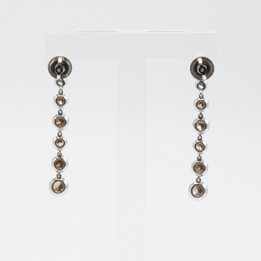 White Gold Diamond Drop Dangle Earrings